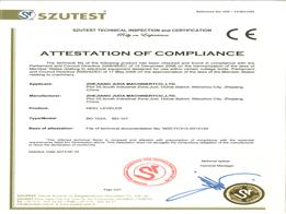 CE Certificate Of Pounding Machines